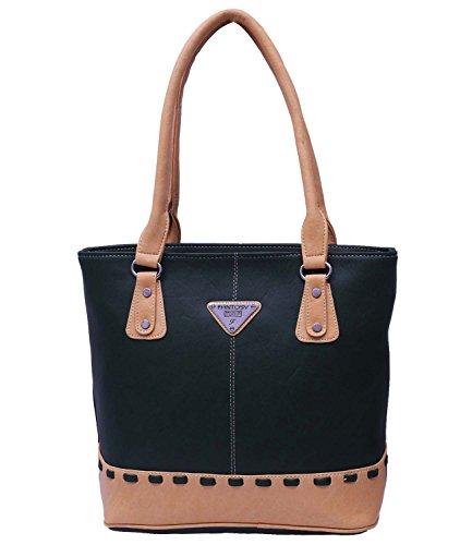 Fantosy Women's Handbag(FNB-661)Green and Beige