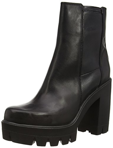Cult Kim Mid 968 Leather, Stivaletti, Donna, Nero (Black), 39