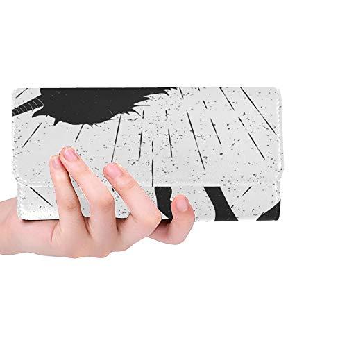 Einzigartige benutzerdefinierte geboren Sein Einhorn Eps 10 Frauen Trifold Wallet Lange Geldbörse Kreditkarteninhaber Fall Handtasche -