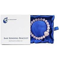 Easy Mom and Baby Armband für Baby und Mutter, Rosenquarzperlen, dient zur Schaffung einer Verbindung beim Stillen