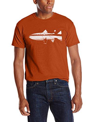 ExOfficio Herren Fisch auf der Line Tee Short Sleeve, Herren, Orange (Sleeve Fisch Tee Short)