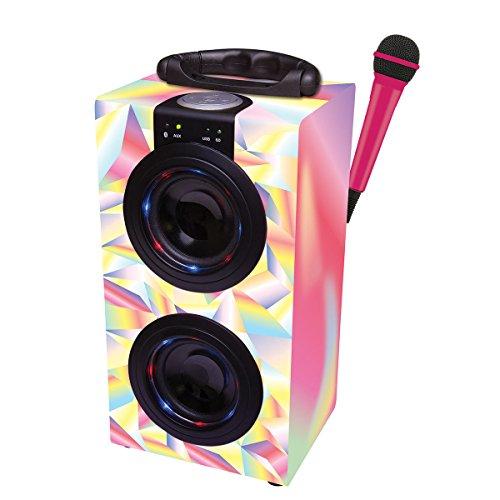 Lexibook - Altavoz portátil de Karaoke con Bluetooth y micrófono, color Rosa...