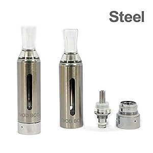 Kanger - Ego Evod Bcc Métal 1.6 ml Bottom Coil Changable Clearomizer - 1.8 Ohm - Sans Nicotine Ni Tabac - Argenté