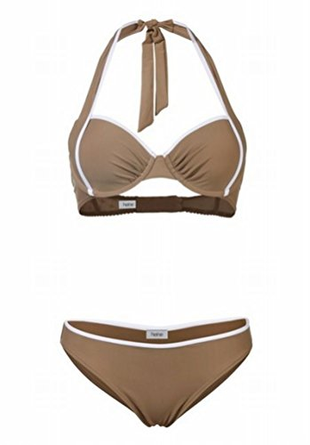 Heine Bügel Bikini Bikinihose Softcups Push Up Neckholder swimsuit (36 D Cup) (Bügel Bademode D-cup)
