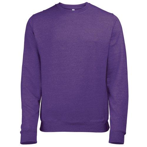 Awdis Herren Sweatshirt / Pullover mit Rundhalsausschnitt Violett - Purple Heather