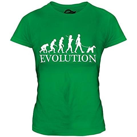 CandyMix Wire Fox Terrier Evoluzione Umana T-Shirt da Donna Maglietta