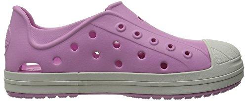 Crocs Bumper Toe, Chaussons Sneaker Mixte Enfant Rose (Carnation/Oyster)