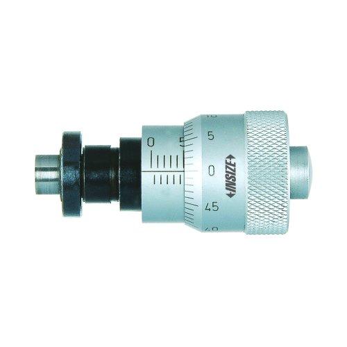 Insize 6373–65S grandes dedal micrometre cabeza, abrazadera tuerca, eje esférica punta, 0mm-6.5mm, graduación 0,01mm