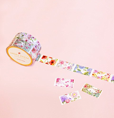 VINTAGE FLOWERS PERFORATED Washi Tape for Planning • Planer und Organizer • Scrapbooking •...