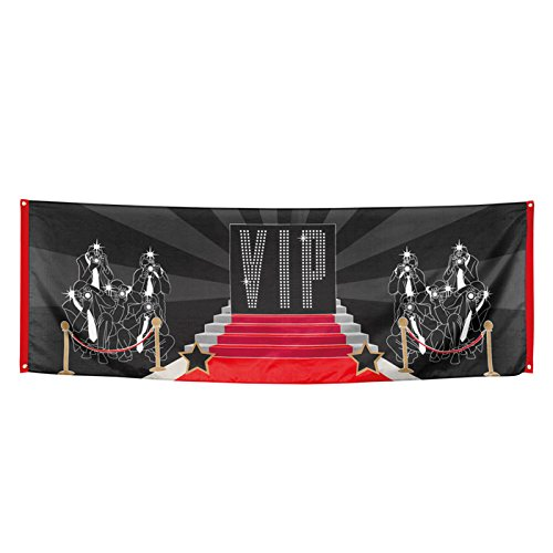 PARTY DISCOUNT Banner VIP, roter Teppich, 74x220 cm