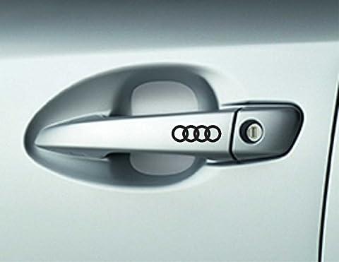 6 x AUDI Car Door Handle Decals Stickers A3 A4 A6 Quattro Premium Quality