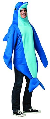 Für Kostüm Erwachsene Delfin - Rasta Imposta 6484-LXL Blaues Delfin-Kostüm für Herren (L/XL)