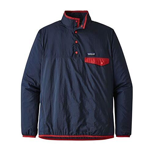 Patagonia Herren M's Houdini Snap-T P/O Jacket, Blau (Stone Blue w/Neo Navy), L Patagonia Pullover Nylon