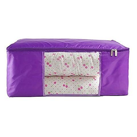 unimango Jumbo durchsichtselement Oxford Quilt Bag Wasserdichte faltbare Kleiderschrank Organizer Kleidung Spielzeug Laundry Storage Wäschekorb Staubbeutel platzsparend Boxen, Oxford, violett, L: (Kleidung Closet Organisation)