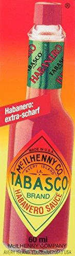 TABASCO Habanero Sauce - 60ml Glasflasche - original - 100% natürliche Zutaten - Extra Hot Sauce - extra scharfe Chili-Sauce