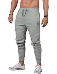 Converse Hombre Core panel reflectante Logo Marled Joggers, Gris