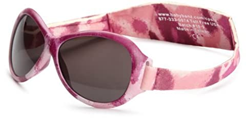 Baby Banz Retro Banz Oval Baby Sunglasses, Pink Diva Camo, 0-24 Months