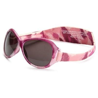 Baby Banz RETRO Banz gafas de sol bebé, Oval rosa Diva Camo, 0–24meses