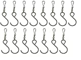 DuBnt Swivel Hooks Clips for Hanging Wind Spinners Wind Chimes (15)