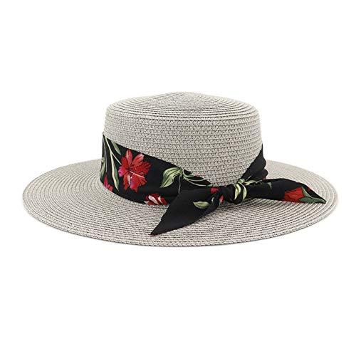 HGYIO Sombrero de Paja de Playa de sombrilla de Playa para...