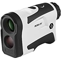 BOBLOV Golf Rangefinder 650Yards Flag Lock 6x Magnification Distance Speed Measure Support Vibration On/Off USB Charging (1000Yards without Flaglock) (White) (650Yards with Flaglock)