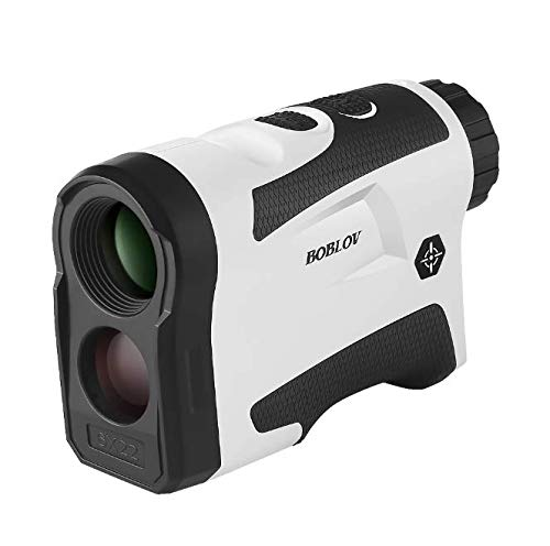 Boblov Entfernungsmesser Golf-Rangefinder Messgerät 650Yards mit Flag-Lock 6X Vergrößerung Entfernung Geschwindigkeit Messen, Unterstützt USB Aufladen & Vibration On/Off Für Golf (mit Flag-Lock)