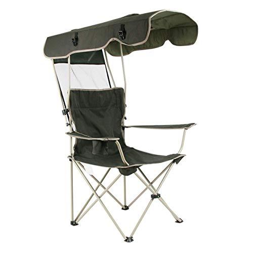 Lcxligang Draußen Camp Chair, Camping, Angeln Klappstuhl Outdoor Leisure Portable Sonnenschirm Strandkorb