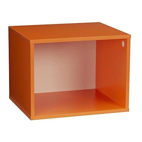 Haushalt Essentials Modular doppelte Cube Aufbewahrung, Orange, Twin (Modular-box-system)