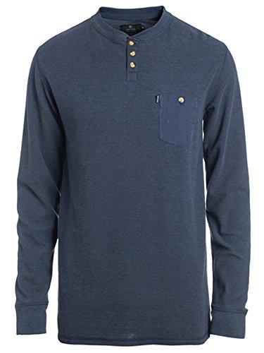 Herren Langarmshirt Rip Curl Pocket T-Shirt Mood Indigo