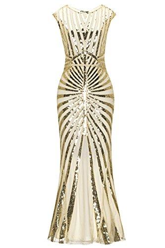 er Jahre Vintage Prom Fransen Pailletten lange Flapper brüllend Gatsby Kleid für Party (1920er-jahre-prom-design)