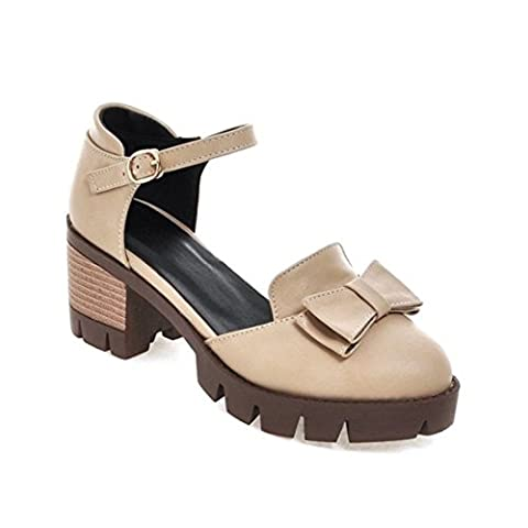 Women's Ankle Wrap Buckle Square Heel Casual Outdoor Sandal And Slippers Beige / US 11