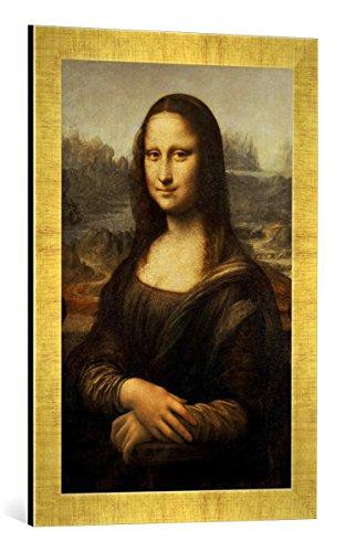 Gerahmtes Bild von Leonardo da Vinci Mona Lisa, Kunstdruck im hochwertigen handgefertigten...