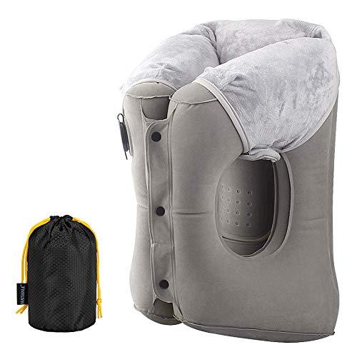 MONIKI Reisekissen, Ergonomisches und Tragbares Aufblasbares Kissen für Kopf und Hals, Multifunktions Innovatives Pillow für Flugzeug, Zug, Auto, Büro zum Schlafen & Entspannen
