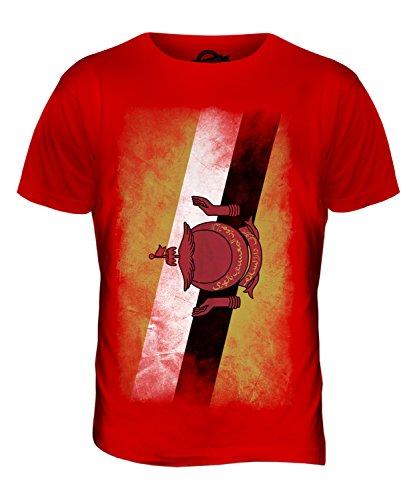CandyMix Brunei Verblichen Flagge Herren T Shirt Rot