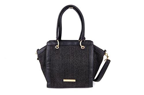House of Envy Sun Bag La Straw Sac pour femme à porter à l'épaule noir