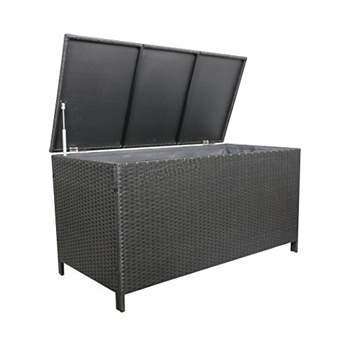 Westwood Garden Furniture Rattan Storage Box Lid Woven Chest Basket Large Patio Outdoor Trunk