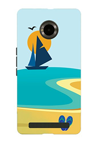 Kaira brand Designer Back Case Cover for Micromax YU Yuphoria (Beach Summer)