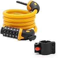 Chunlan Cable de Bloqueo con Cerradura de 7 dígitos - candado de Bicicleta Mei
