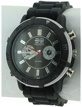CROSSHATCH Herren-Armbanduhr Analog Silikon Schwarz CRS34/C