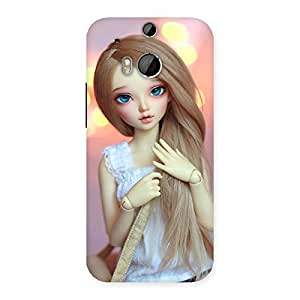 Delighted Doll With Bag Multicolor Back Case Cover for HTC One M8