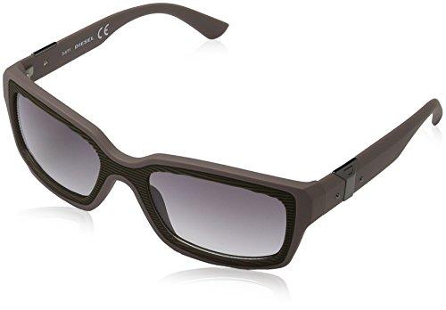 Diesel Unisex Sonnenbrille DL0033, Braun (Braun 5557B), Medium