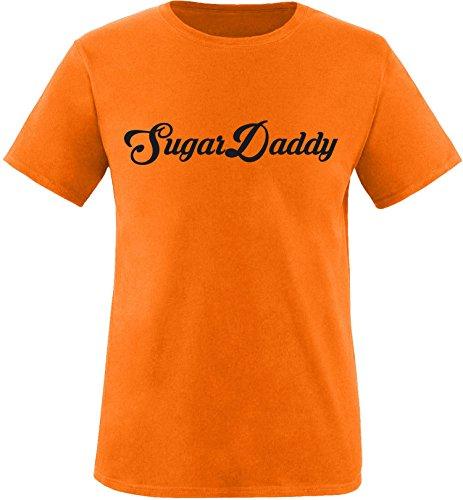 EZYshirt® Sugardaddy Herren Rundhals T-Shirt Orange/Schwarz