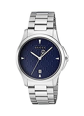 Gucci Mens Analogue Classic Quartz Watch with Stainless Steel Strap YA1264025