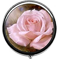 LinJxLee Rose pink Portable Round Pill Case Pill Box Medicine Box Medicine Tablet Vitamin Organizer for Purse... preisvergleich bei billige-tabletten.eu