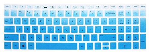 Silikon Tastatur Haut Cover für 39,6cm HP Pavilion x36015-br075nr, HP Envy X36015m-BP 15m-bq, HP Spectre X36015-ch011dx, HP Pavilion 15-CB 15-cc 15-CD 15-BW 15-BS Serie & 43,9cm HP Blue Ombre (Skins Für Hp Pavilion X360)