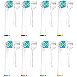 lot de 8 recharges pour brosse a dents oral B / Couverture hygiénique incluse