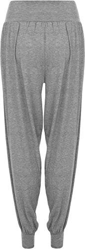 WearAll - Damen Übergröße Plain Haremshose Hosen - 7 Farben - Übergröße Größen 44-54 Hellgrau