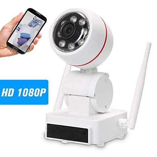 Fbestbody 1080P Camaras De Vigilancia WiFi Interior Camara Vigilancia, HD Visión Nocturna, Detección de Movimiento Remoto, Audio Bidireccional, Monitor para Bebe/Perros,Modelo UQ06
