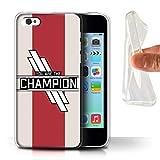 W3Tech Coque Gel TPU/Coque pour Apple iPhone 5C / Vous Êtes Le Champion...