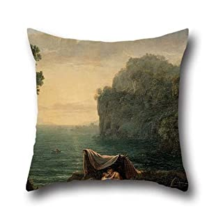 Oil Painting Claude Lorrain - Landscape With Acis And Galatea Cushion Cases 20 X 20 Inches / 50 By 50 Cm Gift Or Decor For Divan,husband,dance Room,relatives,home Theater - 2 Sides